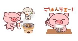 ぶたたの秋-食欲白飯