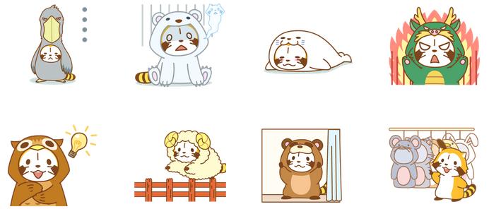 ANIMAL☆ラスカル アニメスタンプ_03