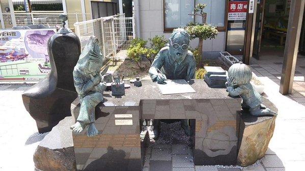 水木しげるロードの銅像