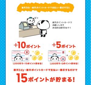 お買いものパンダ楽天ポイントワンダフル13