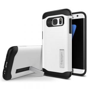【Spigen】 Galaxy S7 Edge ケース, スリム・アーマー [ 衝撃吸収パターン加工 米軍MIL規格取得 ]